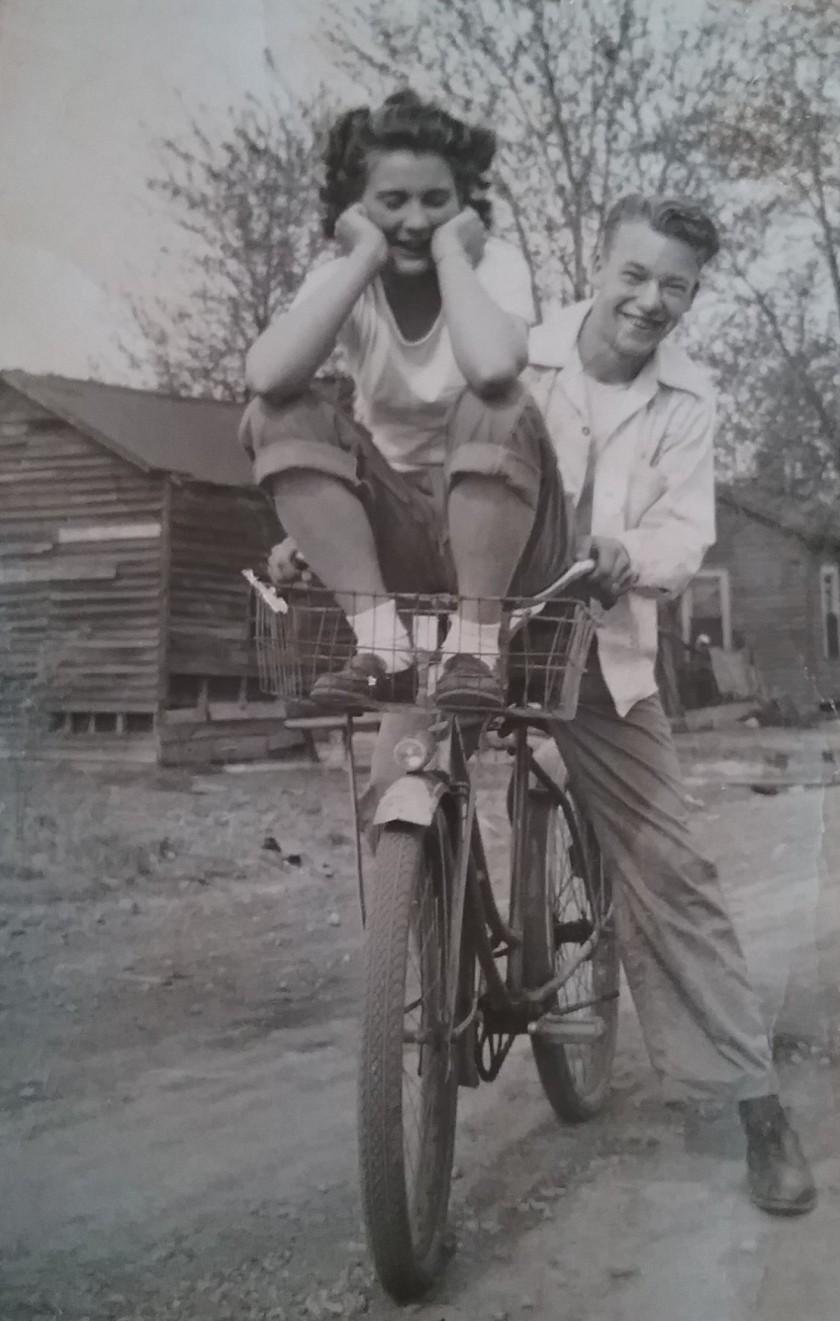 Mom & Dad On Bike